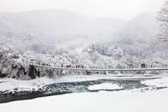 Japan bij de winter royalty-vrije stock foto