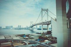 japan bridżowa tęcza Tokyo obrazy royalty free