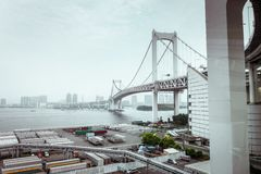 japan bridżowa tęcza Tokyo obraz royalty free