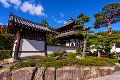 Japan buildings at Tofuku-ji Temple. Japan buildings with garden at Tofuku-ji Temple in Kyoto stock image