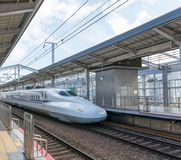 Japan Bullet train. In station Royalty Free Stock Image