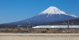 Japan bullet train shinkansen Royalty Free Stock Image