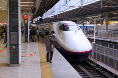 Japan bullet train Royalty Free Stock Photos