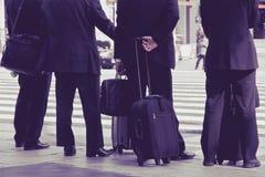 Japan Business man. Business man waiting to cross the street,tokyo japan Stock Images