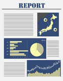 Japan business report Royalty Free Stock Photography