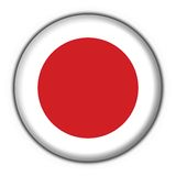Japan button flag round shape Royalty Free Stock Photography
