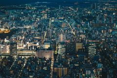 Japan capital Tokyo City Skyline as seen from above at night Stock Photography