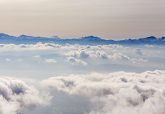 Japan Central Alps. Japan Cetral Alps with fuji view , Komagane , Nagano Stock Photo