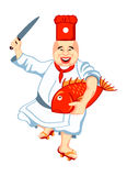 Japan chef Royalty Free Stock Images