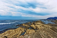 Japan Chiba kust Arkivbild