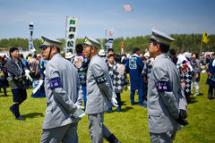 Japan city officer patrol Stock Photos