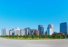 Tokyo modern building under blue sky. Japan city Tokyo modern building under blue sky Royalty Free Stock Images