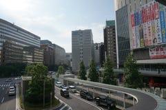 Japan cityscape Royaltyfri Fotografi