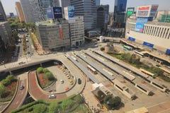 Japan cityscape at Shinjuku skyscraper Royalty Free Stock Images