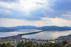 Japan. Cloudy sky over amanohashidate in Kyoto,Japan's three most scenic views Royalty Free Stock Images