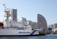 JAPAN COAST GUARD BOAT royalty free stock photos