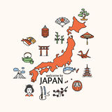 Japan Concept Travel. Vector Royalty Free Stock Photo