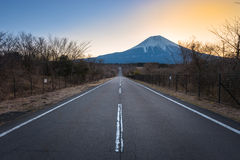 Japan countryside road in morning. Royalty Free Stock Image
