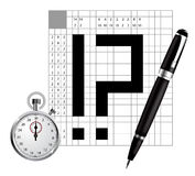 Japan crossword  Royalty Free Stock Photos
