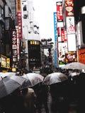 Japan crowled Straße lizenzfreie stockbilder