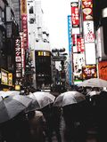 Japan crowled street royalty free stock images
