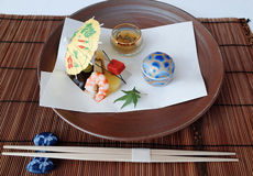 Japan Cuisine Art. Appetizer in Japanese style, presented as art Royalty Free Stock Photos