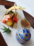 Japan Cuisine Art. Appetizer in Japanese style, presented as art Royalty Free Stock Images