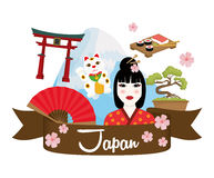 Japan culture design. Japan  concept with culture icon design, vector illustration 10 eps graphic Royalty Free Stock Images