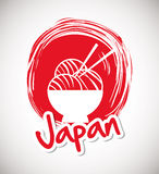 Japan culture design. Japan  concept with culture icon design, vector illustration 10 eps graphic Royalty Free Stock Photos