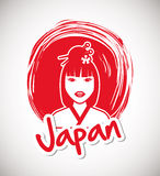 Japan culture design. Japan  concept with culture icon design, vector illustration 10 eps graphic Stock Photo