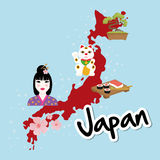 Japan culture design. Japan  concept with culture icon design, vector illustration 10 eps graphic Stock Image