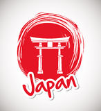Japan culture design. Japan  concept with culture icon design, vector illustration 10 eps graphic Stock Photography