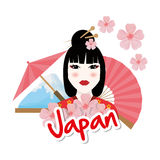Japan culture design. Japan  concept with culture icon design, vector illustration 10 eps graphic Stock Photos