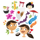 Japan culture icon object Royalty Free Stock Photo