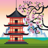 Japan culture poster icon. Vector illustration design Royalty Free Stock Images