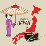 Japan culture poster icon. Vector illustration design Royalty Free Stock Photo
