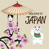 Japan culture poster icon. Vector illustration design Stock Photography