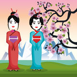 Japan culture poster icon. Vector illustration design Royalty Free Stock Image