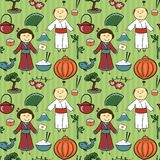 Japan culture vector seamless pattern Stock Images