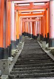japan czerwieni tunel Zdjęcia Royalty Free