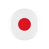 Japan 3d button Stock Photo