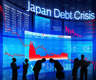 Japan Debt Crisis Stock Image
