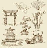 Japan design elements Royalty Free Stock Photos