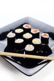 Japan dish on white Royalty Free Stock Images
