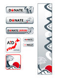 Japan donation banners Royalty Free Stock Photography