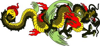 Japan dragon Royalty Free Stock Images