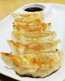 Japan dumplings  Gyoza with sauce Royalty Free Stock Image