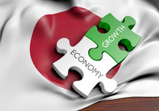 Japan economy and financial market growth concept. 3D rendered concept of the Japan economy and its financial market growth Royalty Free Stock Photo