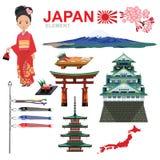 JAPAN-ELEMENT und -reise lizenzfreie abbildung