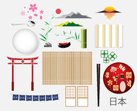 Japan elements object and symbol collection. vector illustration Stock Photography
